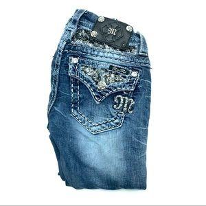 Miss Me Skinny Jeans, Size 22, EUC